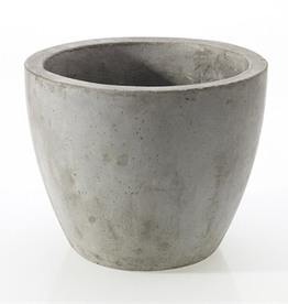 "Newport Pot, Grey, 7.8""x 7"""