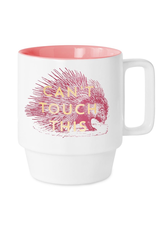 Mug Cermaic, Can't Touch This, Vintage Sass, 120z