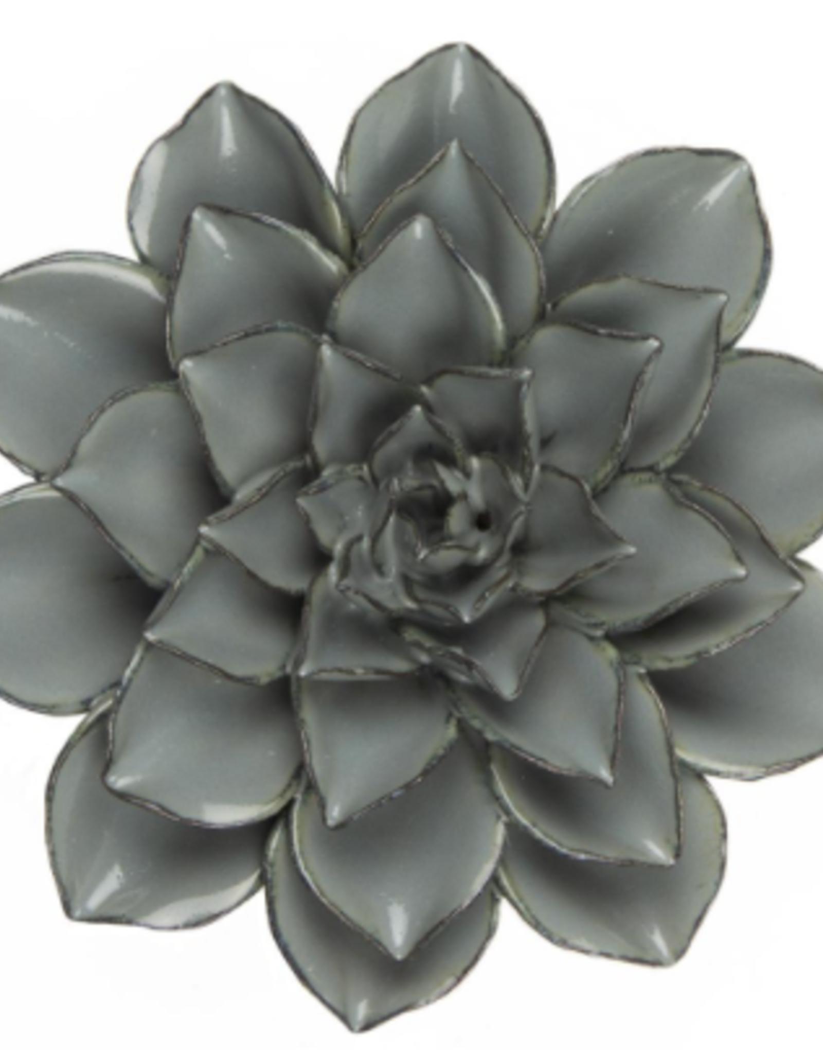 Large Dusk Blue Ceramic Flower