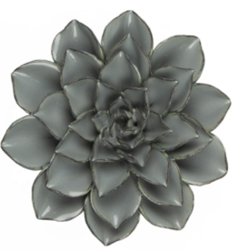 Large Dusk Blue Ceramic Flower