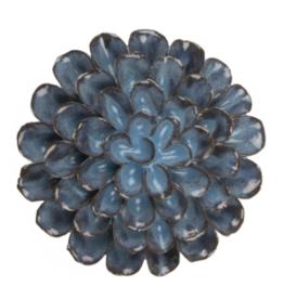Ceramic Flower, Medium Blue Grey