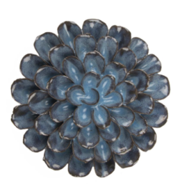 Medium Blue Grey Ceramic Flower