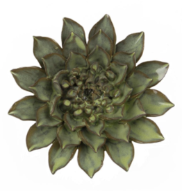 Medium Green Ceramic Flower
