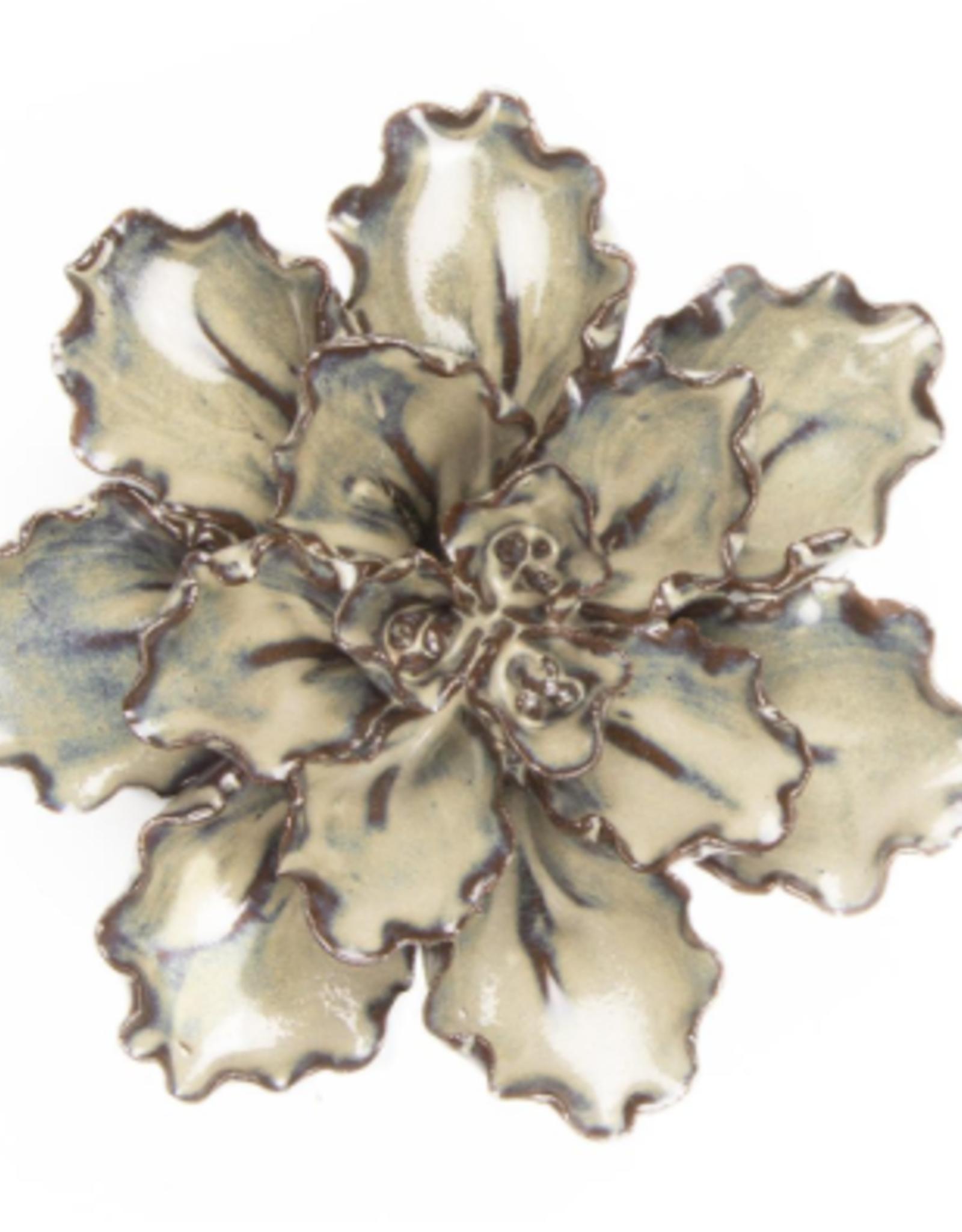 Ceramic Flower, Medium Ecru