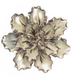 Medium Ecru Ceramic Flower