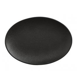 """Matte Black Elan Oval Platter L14"""""""