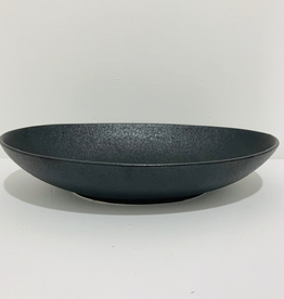 Bowl, Oval, Matte Black, Elan, 11.8""