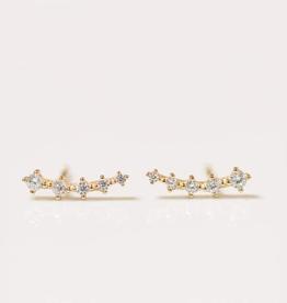 Crawler Earrings - White