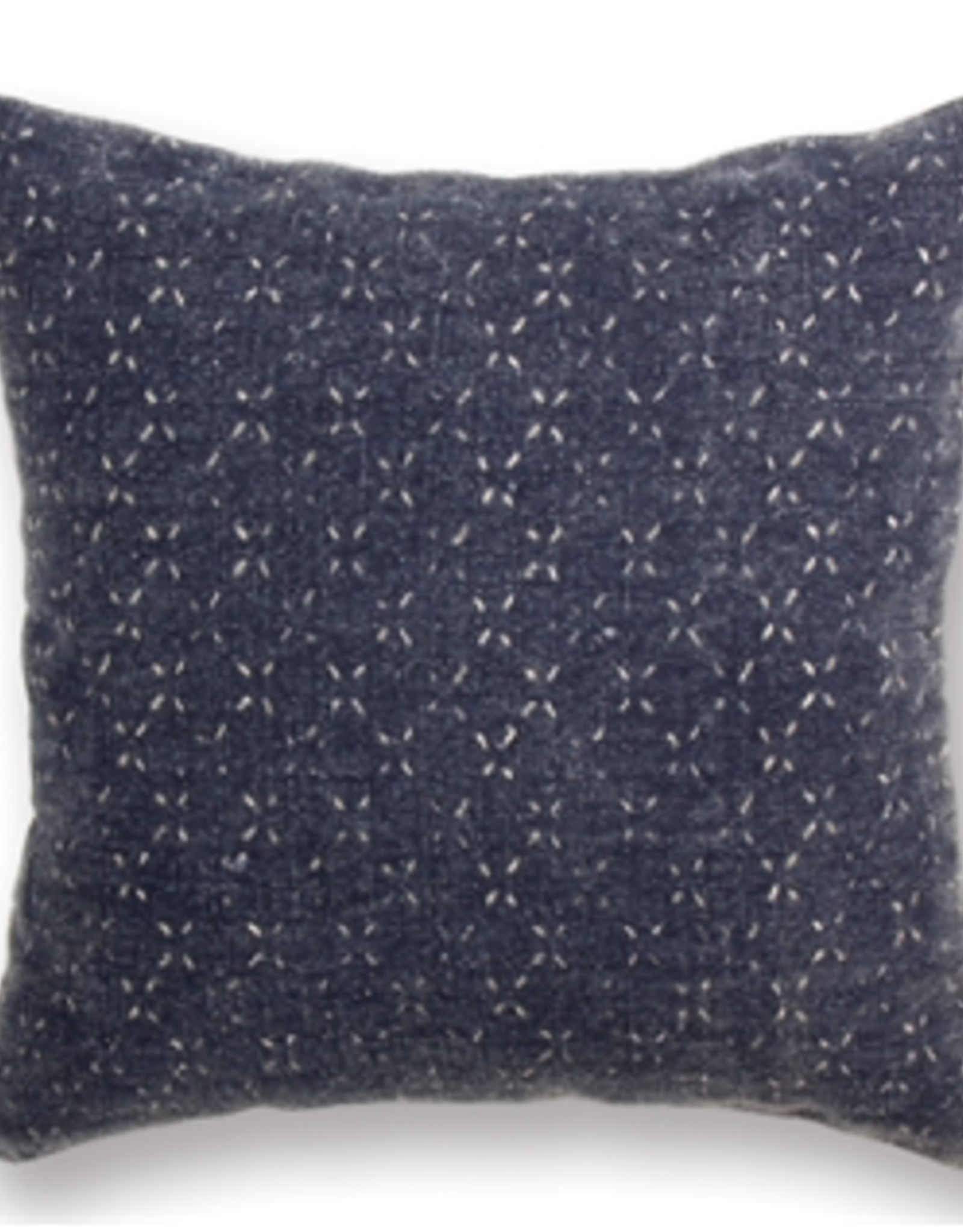 "Surrey Square Navy Pillow, L18"" W18"""