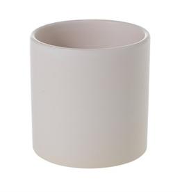 "Small Matte White Cercle Pot D4.25"" H4.25"""