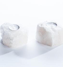 Candle Holder, Quartz Crystal