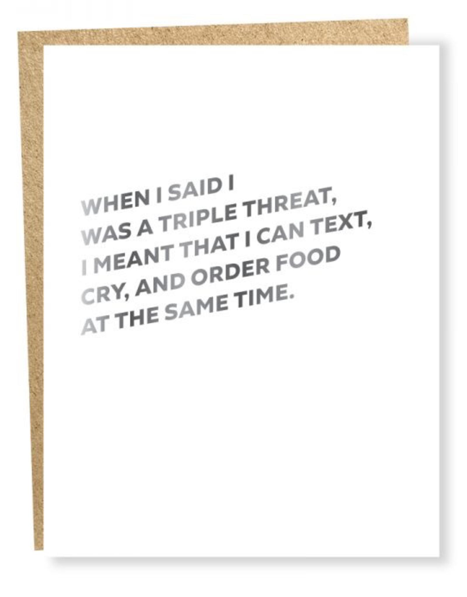Self Care Triple Threat Card