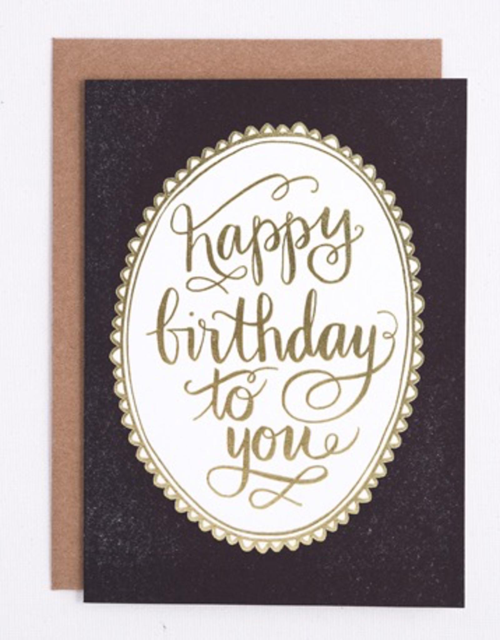 Card, Birthday Foil