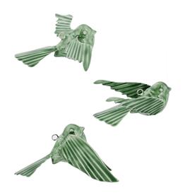 Birds, Enamel Green, Tilda, 3 Styles