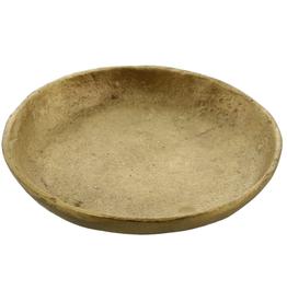 Plate, Tiny, Cast, Brushed Brass