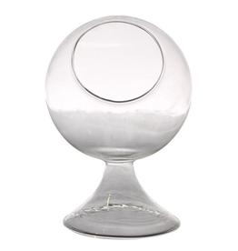 "4.5"" x 6.5"" Round Glass Terrarium"