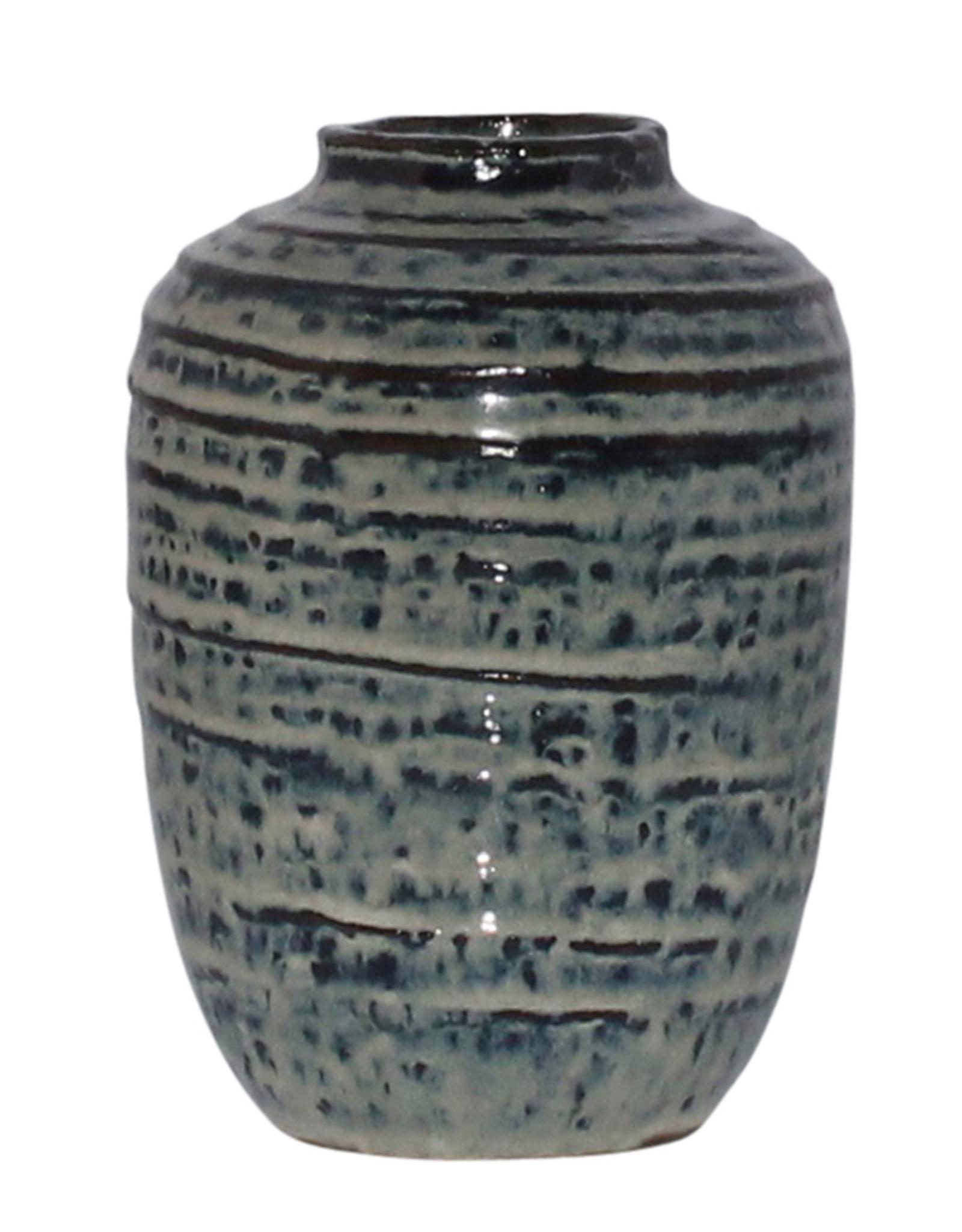 Vase, Ceramic, Indigo, Toku