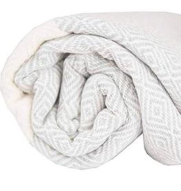 Mist Diamond Pattern Turkish Towel