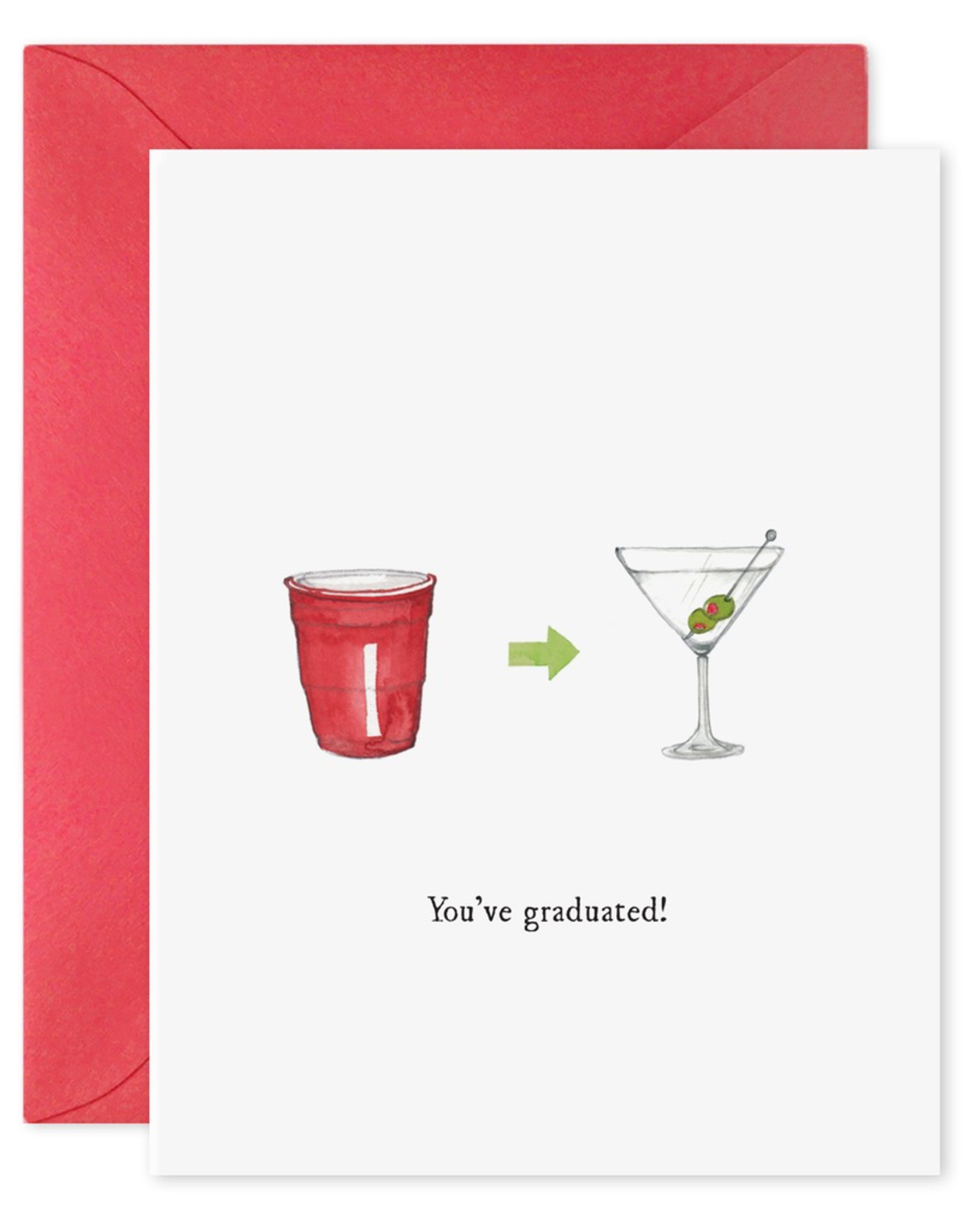 You've Graduated Martini Card