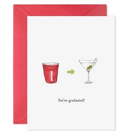 You've Graduated Martini Card