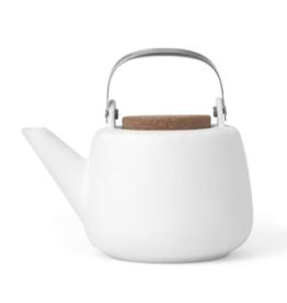 Nicola White Porcelain Teapot