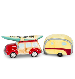 Salt & Pepper, Car & Camper with Surfboard