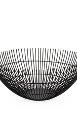 Basket, Metal, Linear Rib, Black, D11""