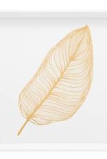 "17"" Square Gold Banana Leaf Canvas Print"