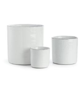 "6"" White Crackle Glaze Pot"