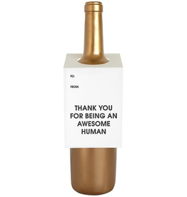Awesome Human Wine Tag Card