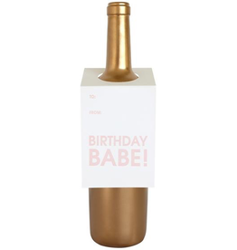 Birthday Babe Wine Tag Card