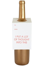 A Lot Of Thought Wine Tag Card