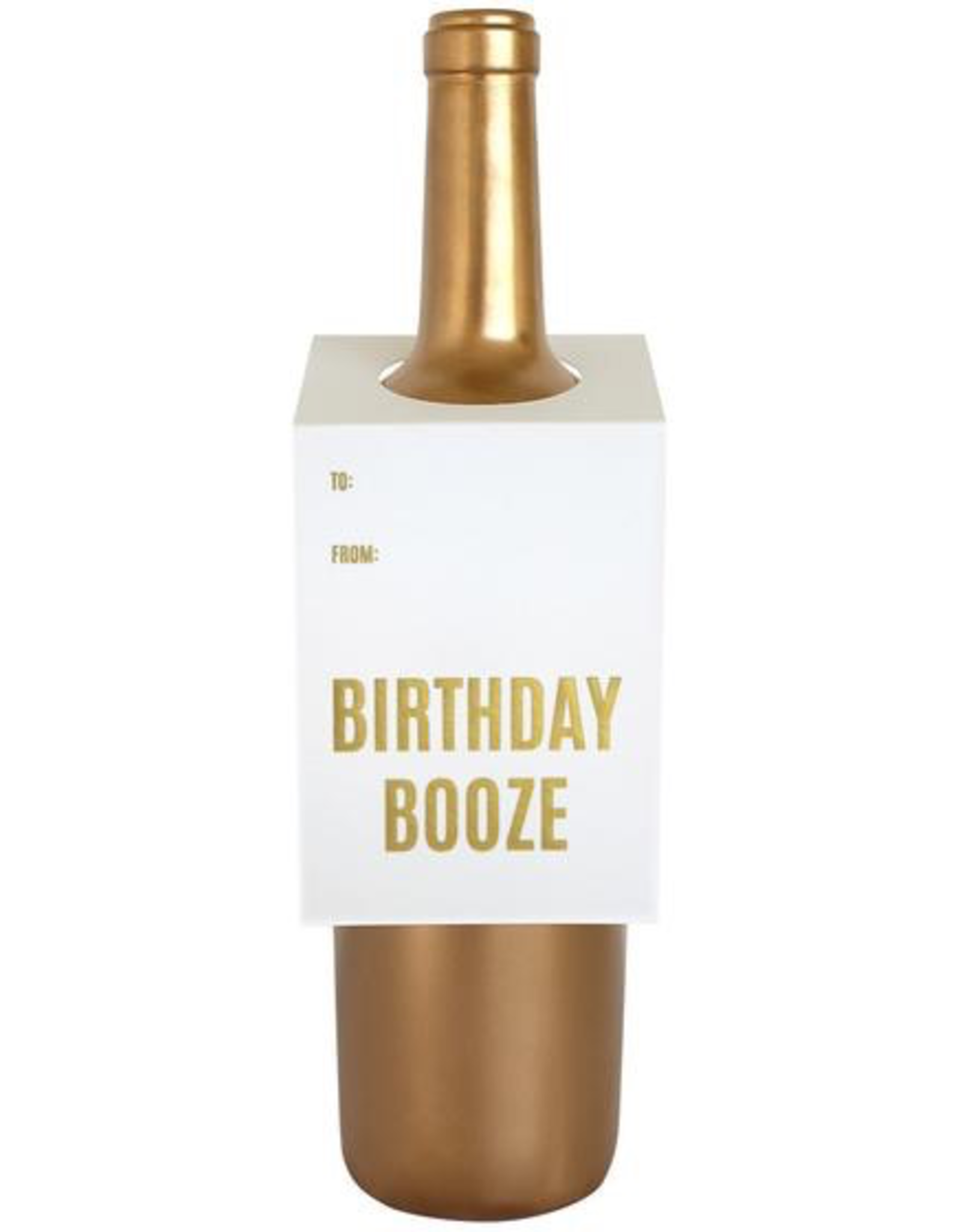 Card, Wine Tag, Birthday Booze