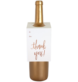 Rose Gold Foil Thank You Wine Tag Card