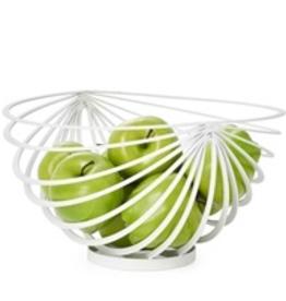 Basket, Fruit, Eclipse Rib, White