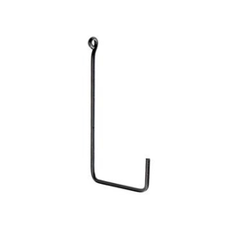 "Large Iron Black ""L Shape"" Single Hook"