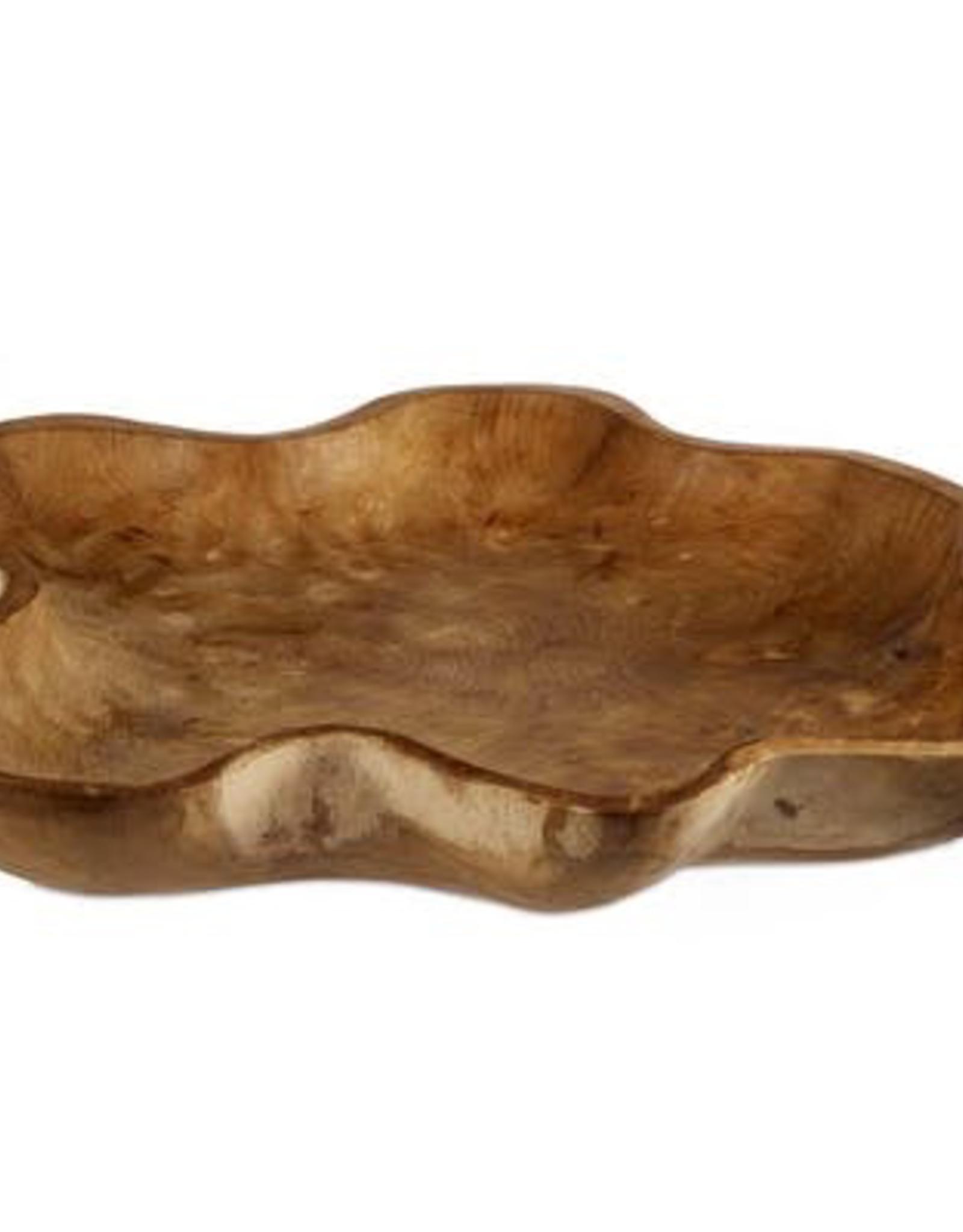 """Wooden Display Bowl, Takara, 19"""""""