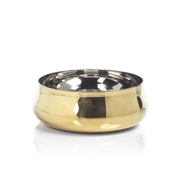 """Gold Stainless Steel Condiment Bowl D 3.25"""""""