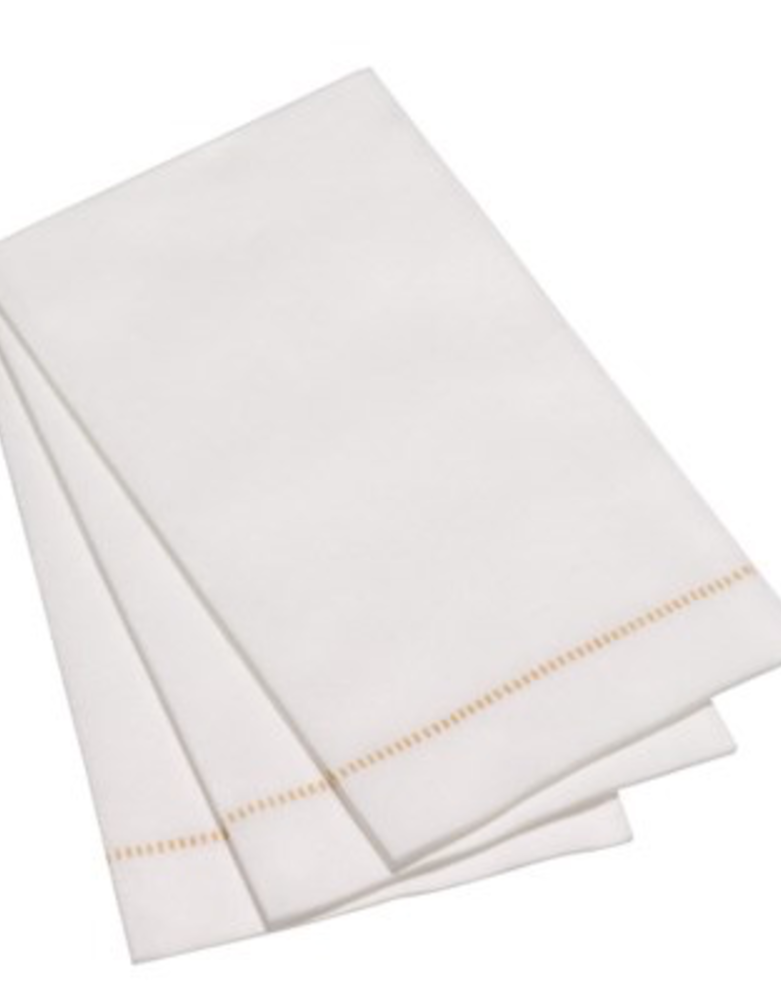 Napkin Guest, Hemstitch Gold, Pack of 15