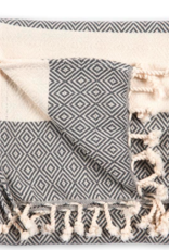 Turkish Towel, Hand, Diamond, Slate