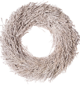 "18"" Frosted Cedar Branch Christmas Wreath"