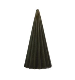 "8"" Green Reactive Glaze Stoneware Round Ribbed Christmas Tabletop Tree"