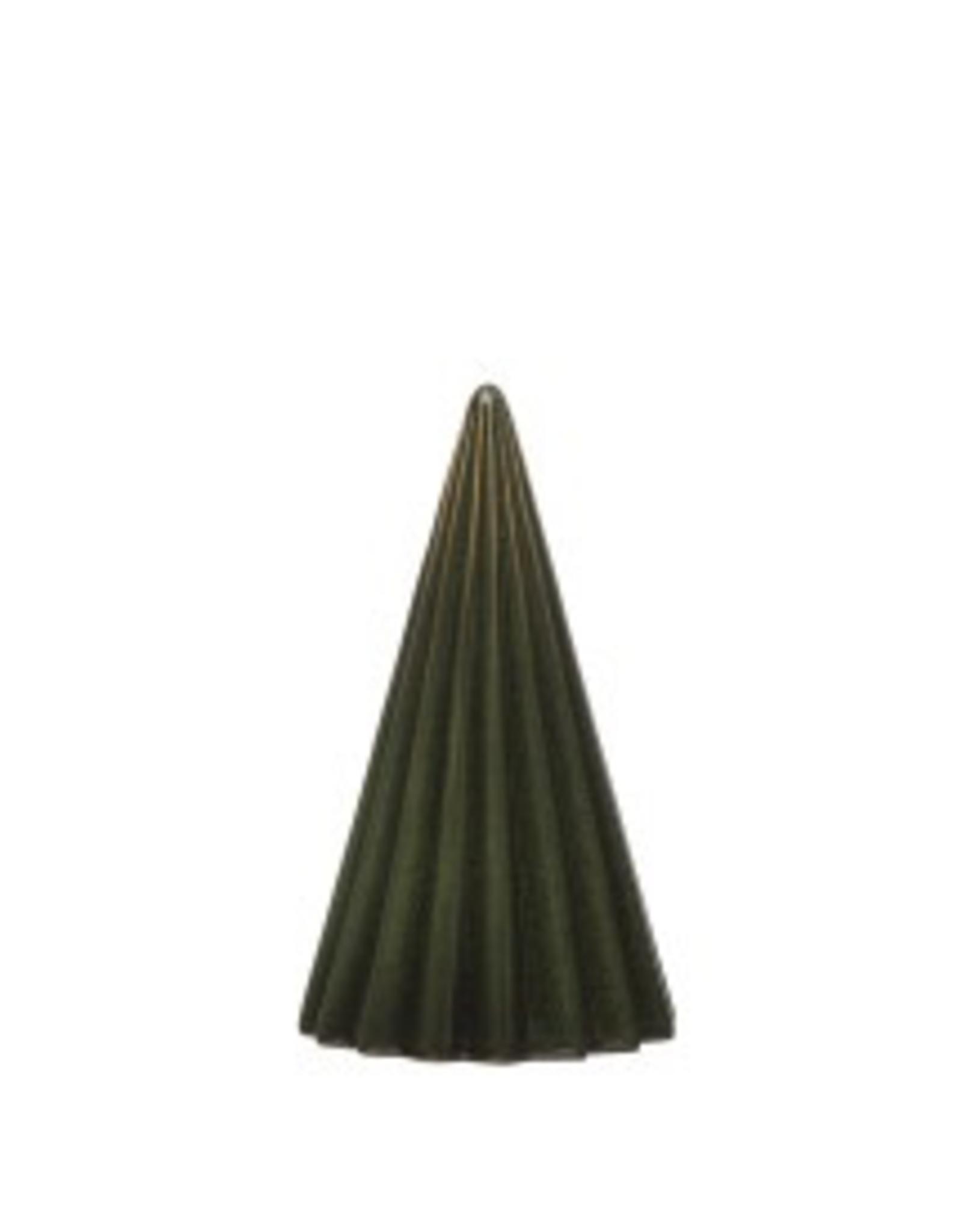 "3.5"" x 6"" Ribbed Stoneware Christmas Tree"