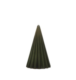 "3.5"" x 6"" Ribbed Stoneware Christmas Tree"
