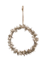 """7"""" Champagne Finish Faux Round Wreath"""