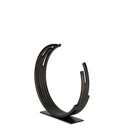 "H14"" Small Black Broken Circle Taj Sculpture"