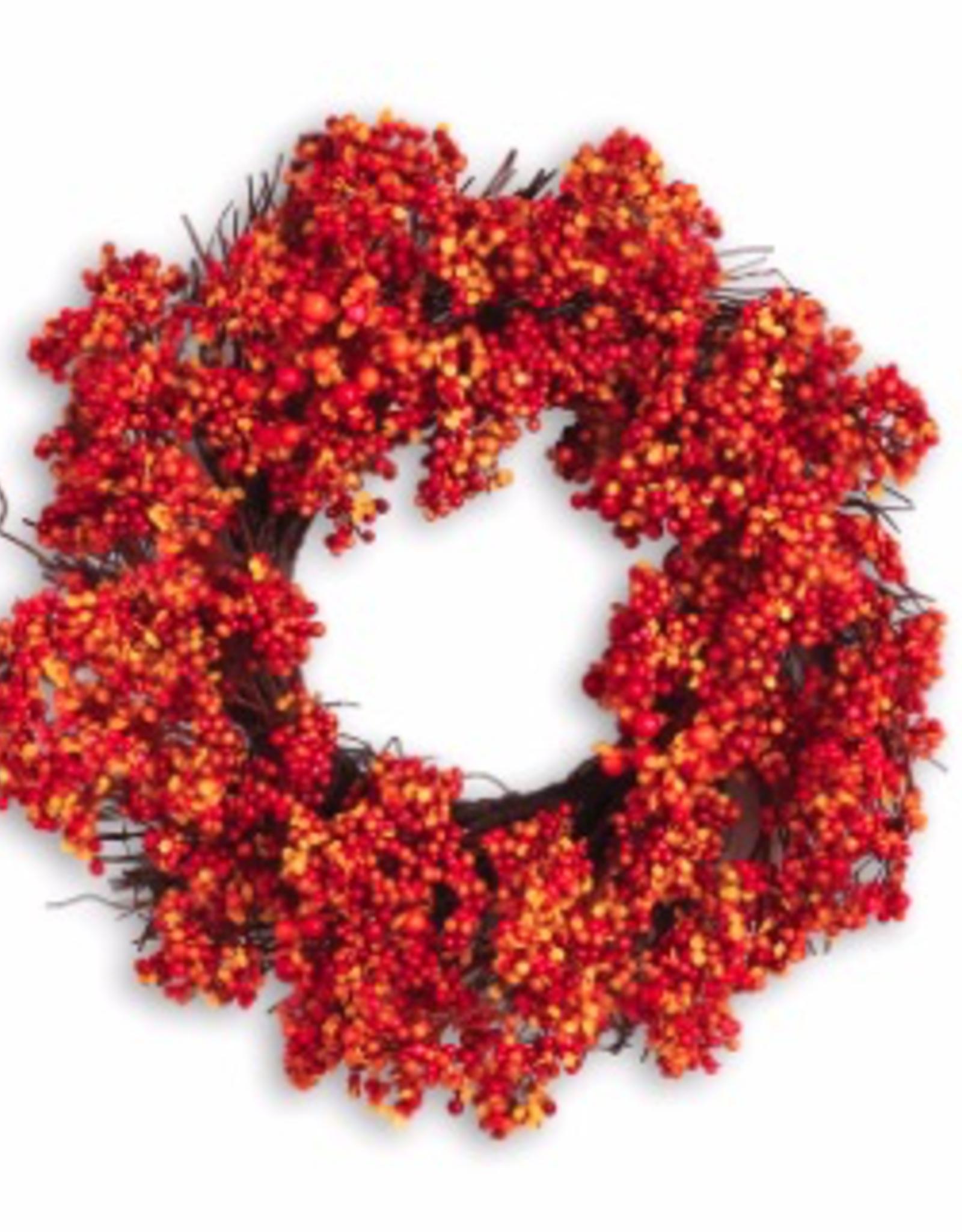 Orange Pepperberry Autumn Wreath