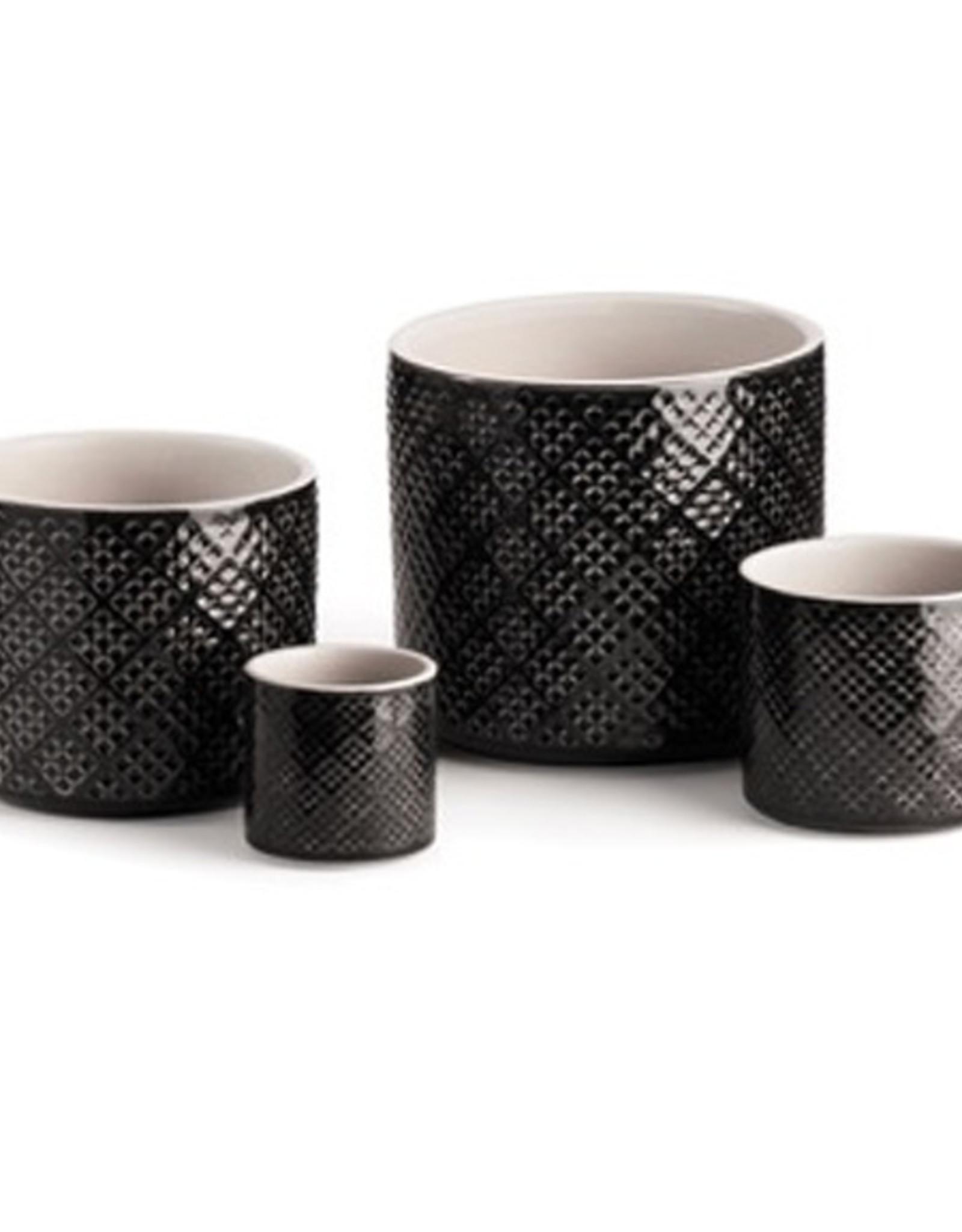 Small Charcoal Alicante Pot