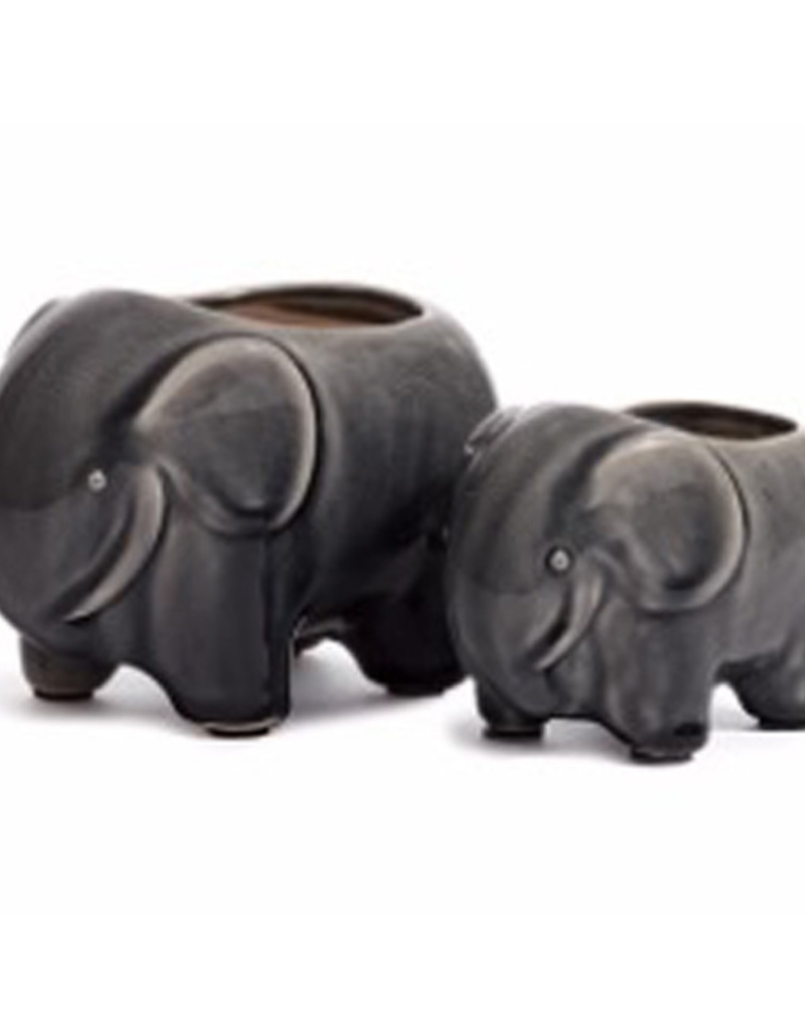 Small Grey Elephant Java Pot