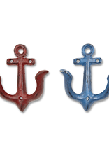 Hook, Anchor, Small, Blue & Red
